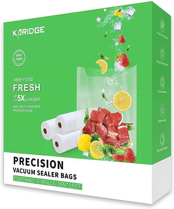 Karidge 3 Rolls Vacuum Sealer Bags 8