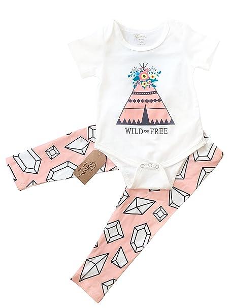 ezteck® Bebé Niños Niñas triángulo geométrico Patrones Body Body Set + pantalones: Amazon.es: Ropa y accesorios