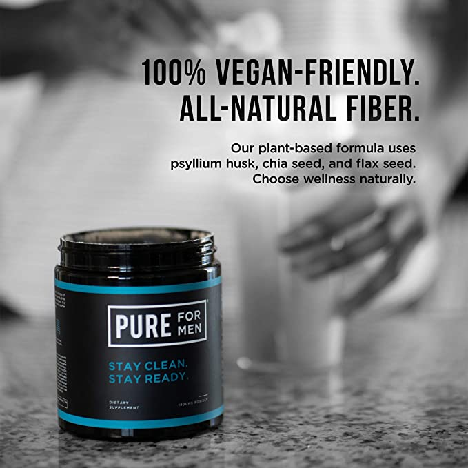 Pure for Men - El suplemento original de fibra de limpieza vegana ...