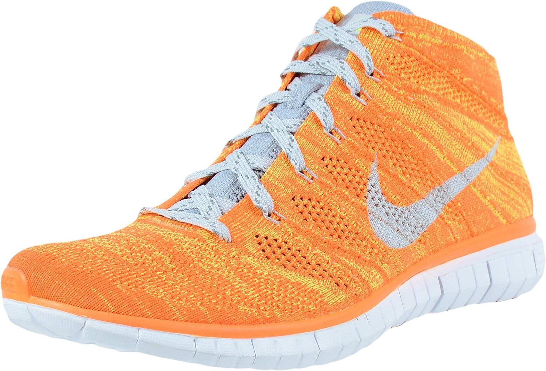 Nike Free Flyknit Chukka - Zapatillas de running para hombre, (Total Naranja/Volt/Blanco/Base Clara Gris), 44.5 EU: Amazon.es: Zapatos y complementos