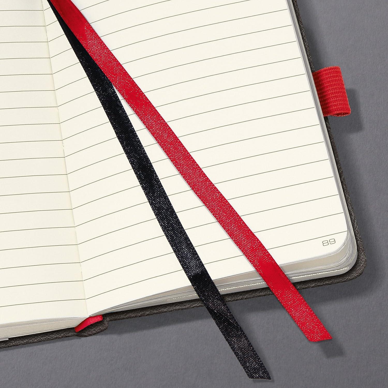 Design Vintage dunkel-grau Conceptum kariert ca Leder-Look SIGEL CO608 Notizbuch A4 gro/ße Auswahl Magnetverschluss
