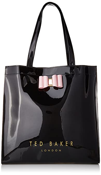 3a1acbbfc88 Ted Baker Bethcon Bow Detail Large Icon Bag, Black, One Size: Amazon ...