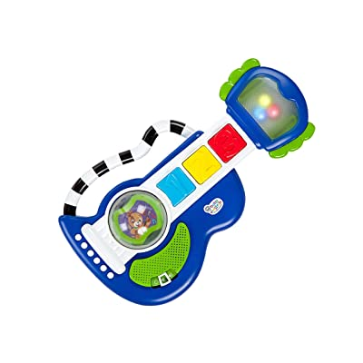 Baby Einstein Rock, Light & Roll Guitar Musical Toy, Ages 3 Months + : Baby