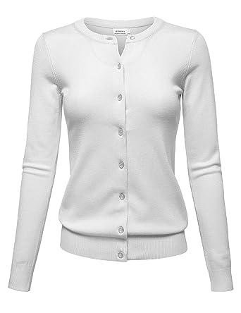 b33e37a540 ZENNESSA Women Button Down Soft Knit Cardigan Sweater (S-3X) PLUS-1XL