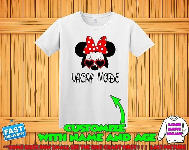 9cbd2272 Amazon.com: Disney Shirts For Family, Matching Disney thirts, Disney  Vacation Shirts, Minnie Ears Mommy Daddy name birthday shirts Trip Minnie  Mouse Mickey ...