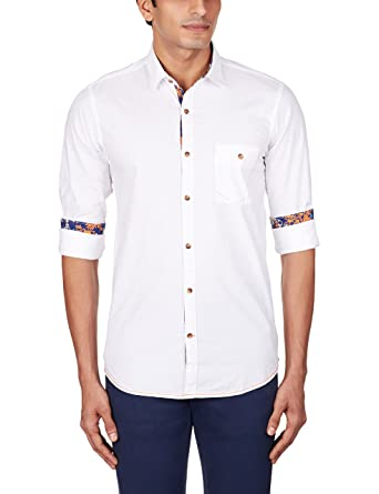 193ad87054 Yellow Jeans Men s Casual Shirt  Amazon.in  Clothing   Accessories