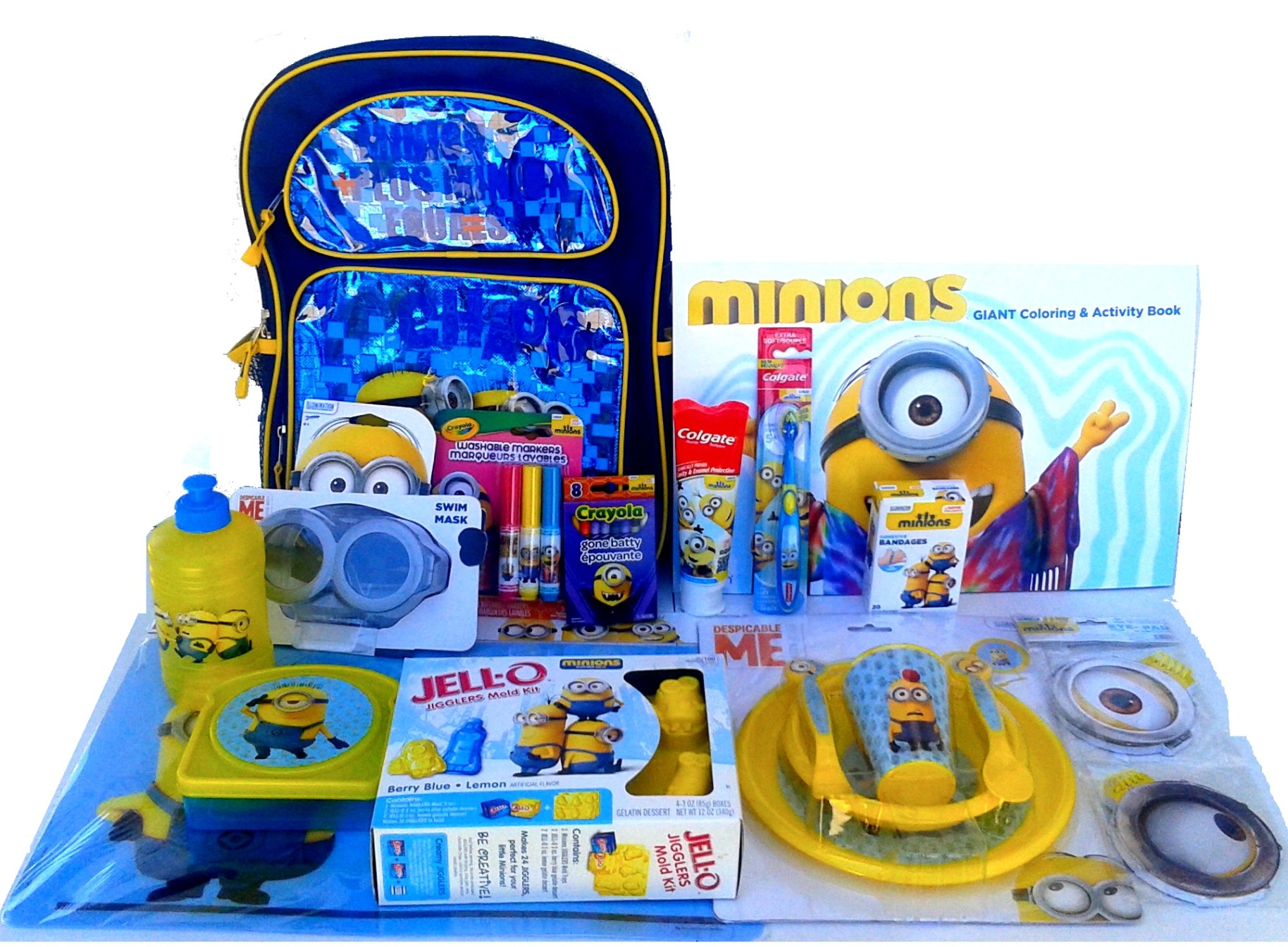 Minions Extravaganza Back 2 School Supplies and Dental Care-ONe in a MINION Package