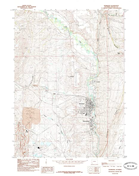 Kemmerer Wyoming Map.Amazon Com Yellowmaps Kemmerer Wy Topo Map 1 24000 Scale 7 5 X
