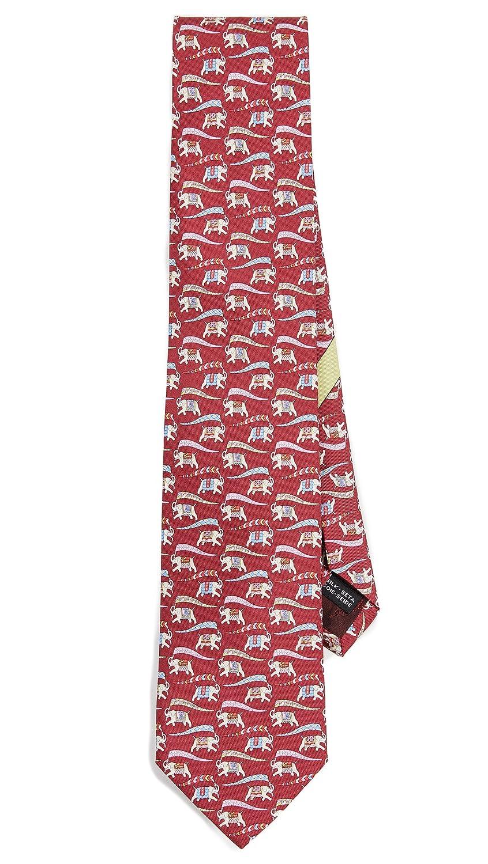 Salvatore Ferragamo Men's Elephant Tie Bordeaux One Size Salvatore Ferragamo-Men' s