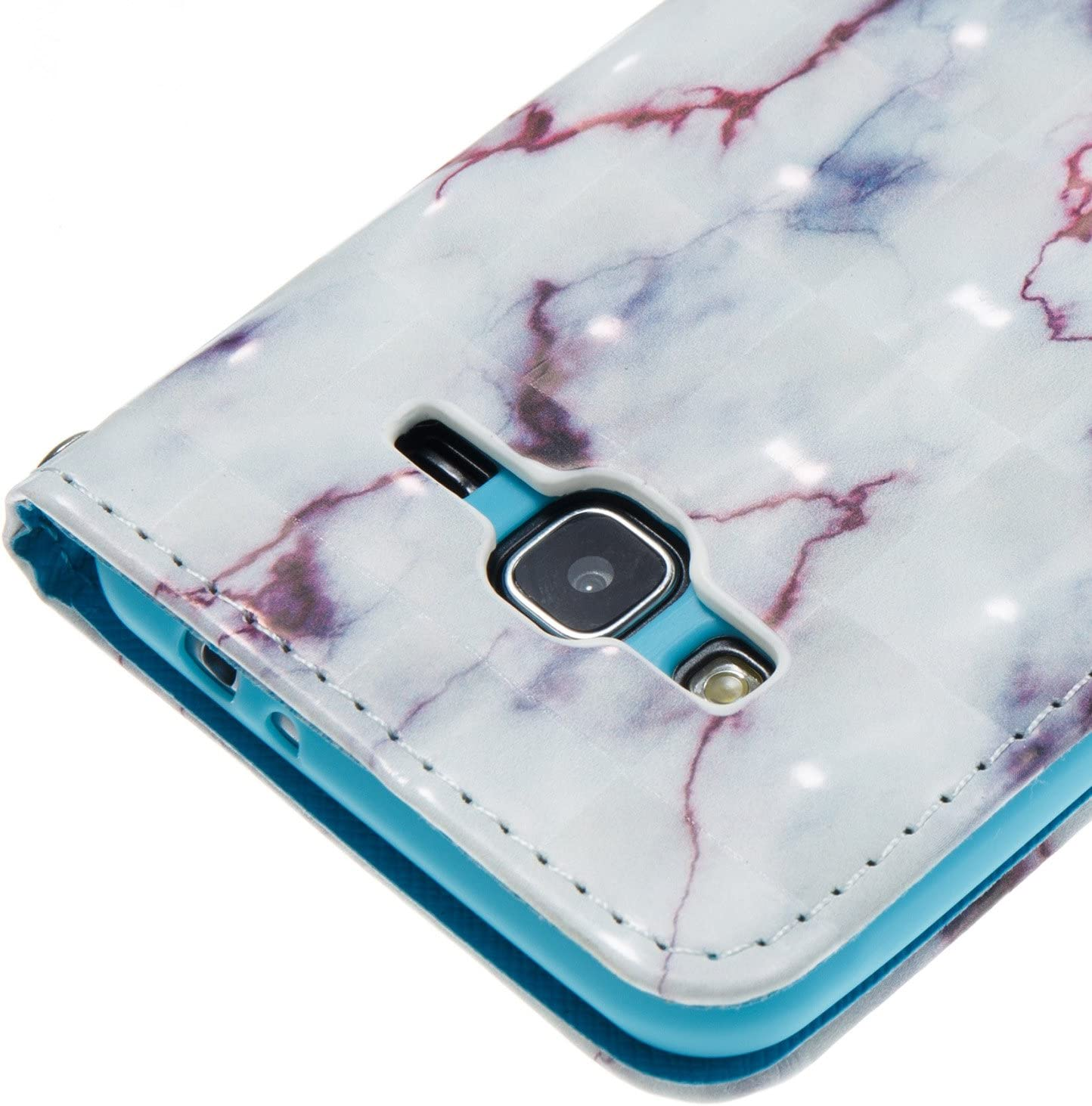 MAGQI Samsung Galaxy J3//J310 Wallet Case Flexible Flip PU Leather Book Stand Unique Marble Stone Grain Painting Cover with Card Slots Scratch Resistant Non-Slip Cover Protective Shell