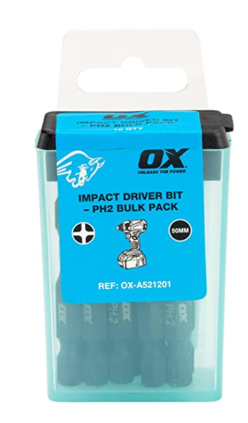 Pro Drill Bits PH2 Impact Driver Bits Heavy Duty 50mm Drill Screwdriver Bit Pack
