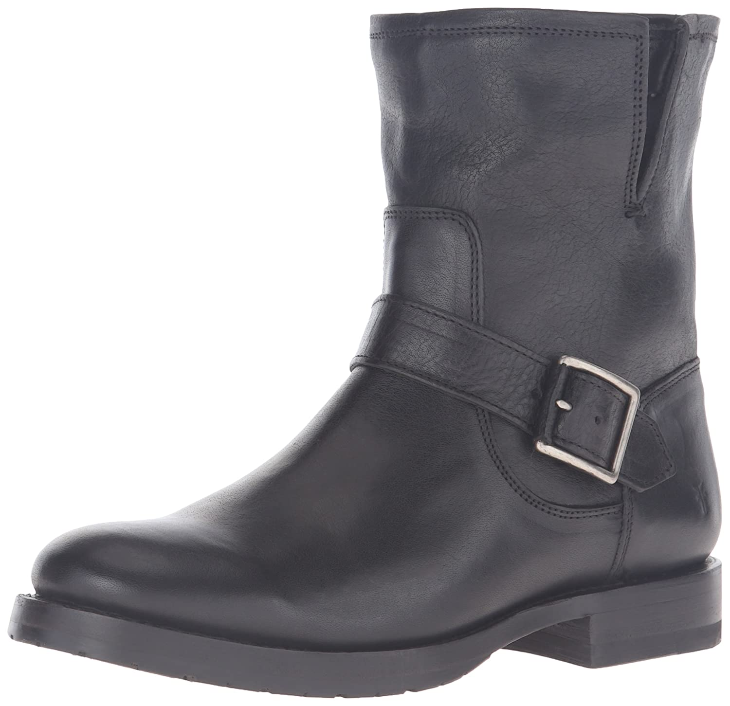 FRYE Women's Natalie Short Engineer Boot B01HON9UQ0 6.5 B(M) US|Black/Soft Tumbled Nubuck