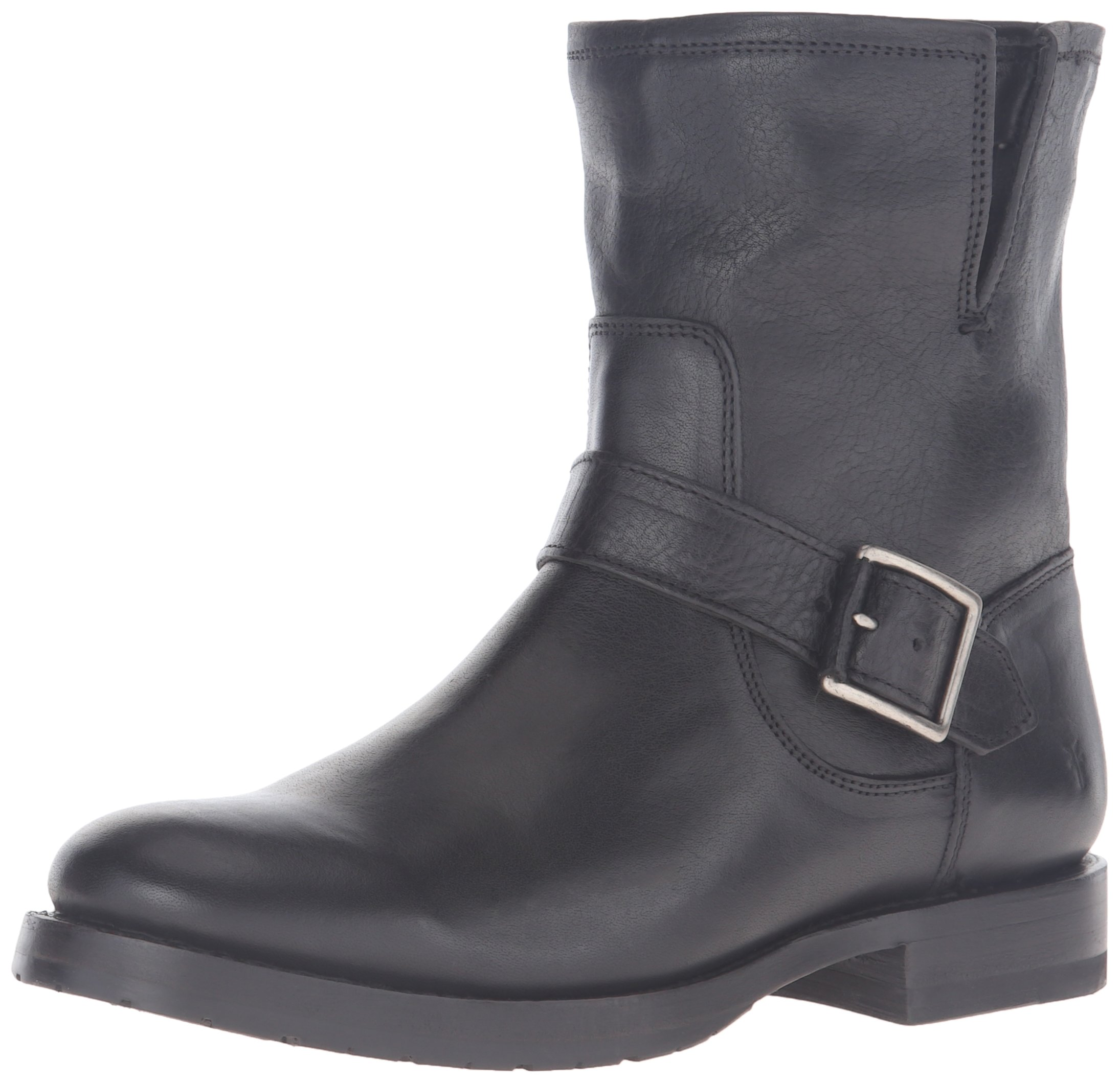 FRYE Women's Natalie Short Engineer Boot, Black, 8 M US