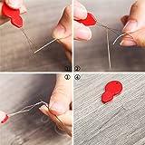 TecUnite 50 Pieces Gourd Shaped Plastic Needle