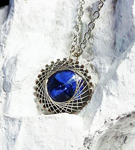 c31e8f23c2019 Amazon.com: Wire Wrapped with Sterling Steampunk Spiral Pendant with ...