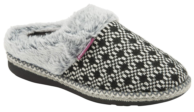 Mujer Peluche Memory Foam Zapatillas de Casa con Elegantes Nordikas y Leopardo Modelo DUNLOP