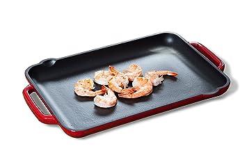 Tivoli   BBQ Grill   Plancha   Rectangulaire   Rouge   32,5 x 22 cm ... 318907513895