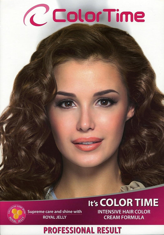 Color time, tinte en crema para el cabello de color rubio frio cenizas 611: Amazon.es: Belleza