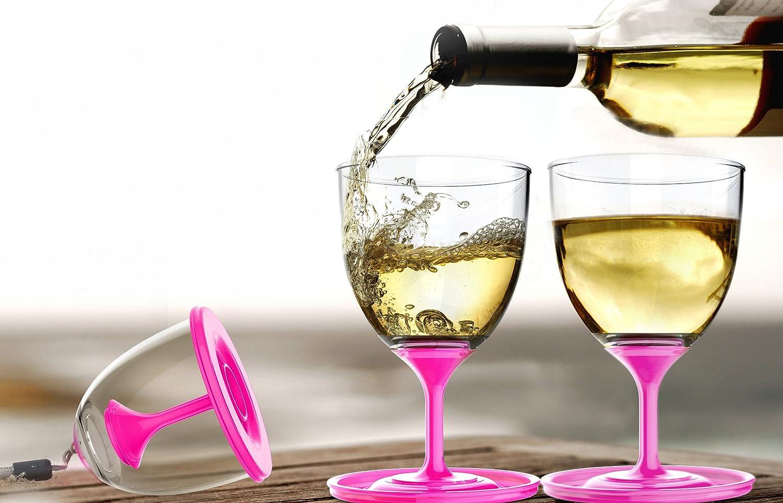 stack wine. Amazon.com | Asobu StackNGo Unbreakable Wine Glasses, Pink, Set Of 2: Glasses Stack