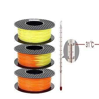 Filamento de impresora 3D PLA 1,75 mm, cambio de color según la ...