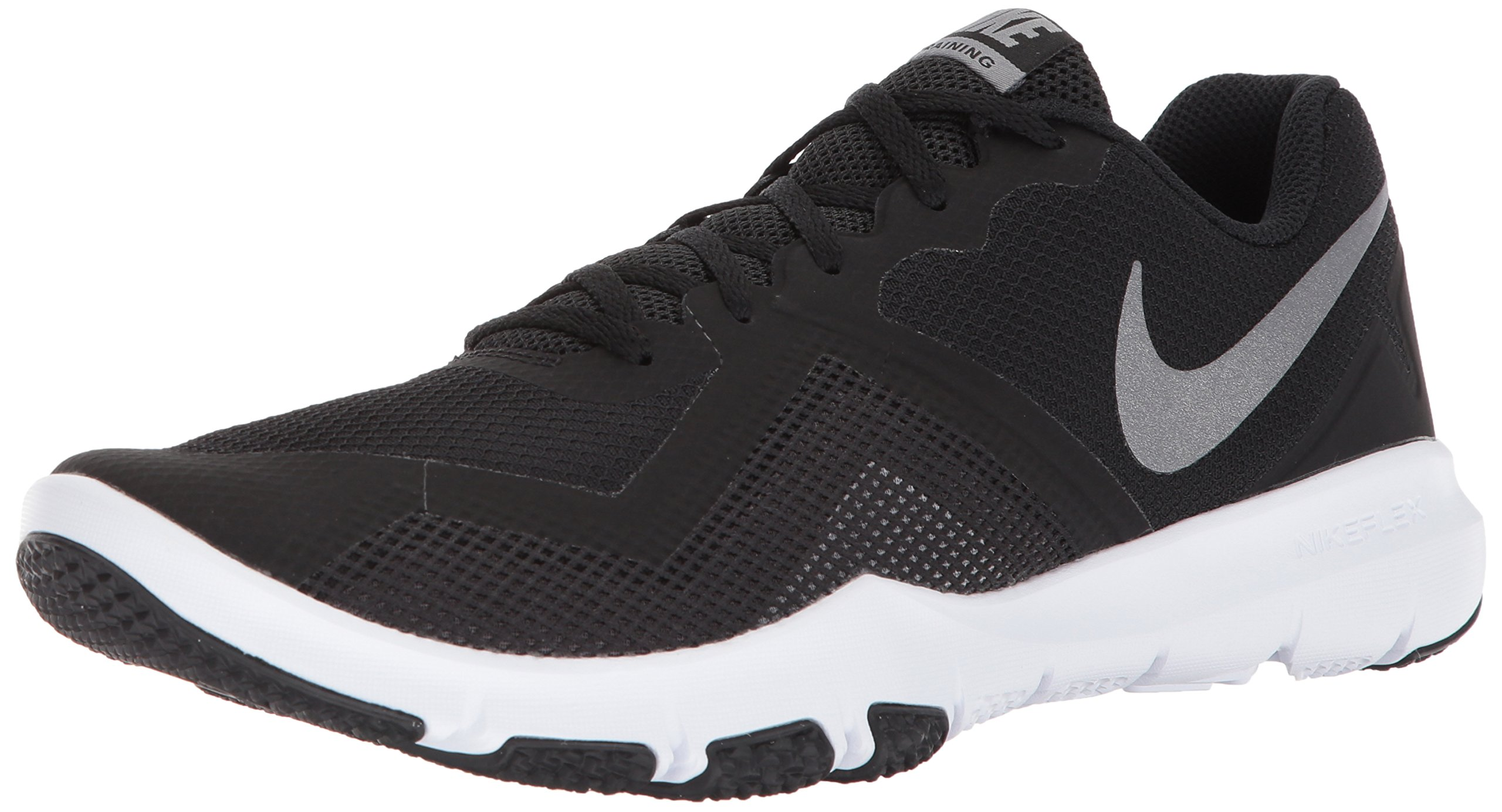 NIKE Men's Flex Control II Cross Trainer, Black/Metallic Cool Grey-Cool Grey-White, 11.0 Regular US by NIKE