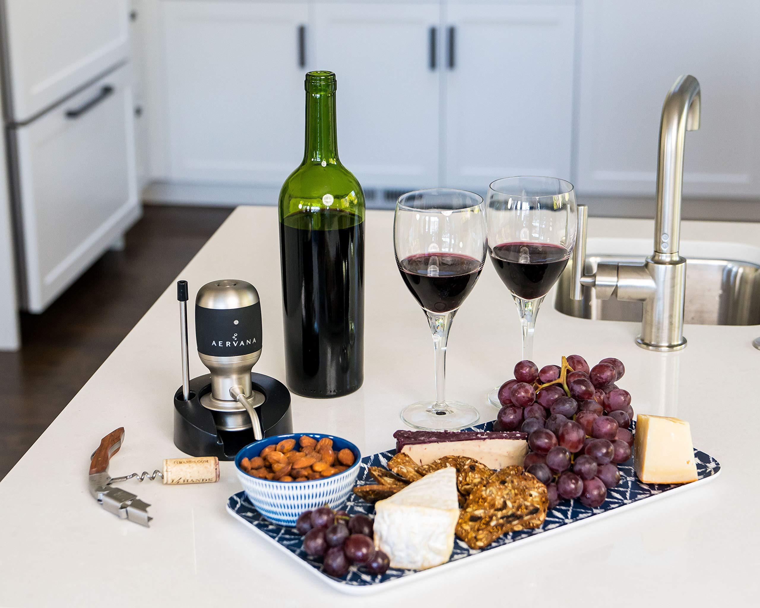 Aervana Original: 1 Touch Luxury Wine Aerator with Display Stand
