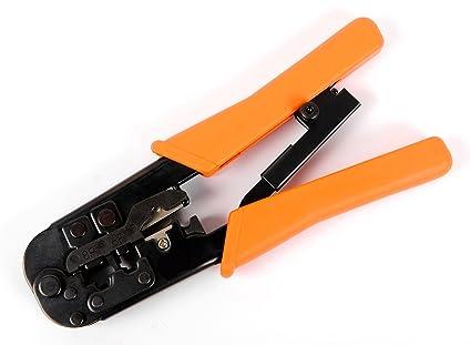 RUBICON - Crimpadora RJ45 - Mejor para crimpar, cortar y tira Cable Ethernet CAT-