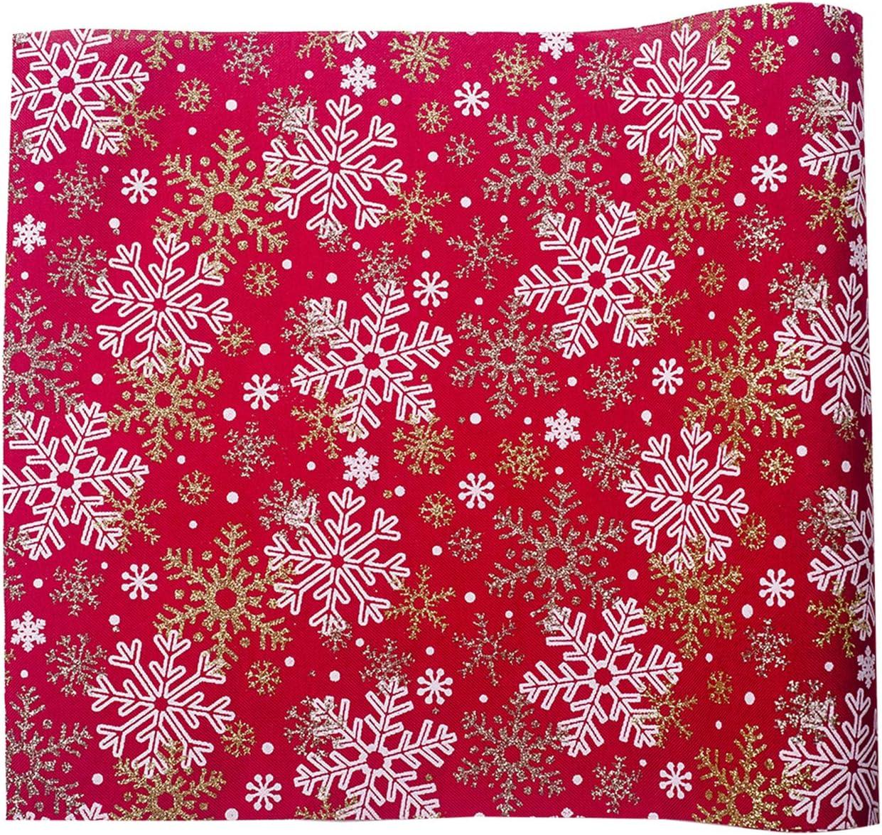 semen Camino de Mesa Rectangular Christmas de 106 Pulgadas x 12 Pulgadas para Bodas y Fiestas Beige Snow Size:Length270cm//106.3 Width30cm//11.8