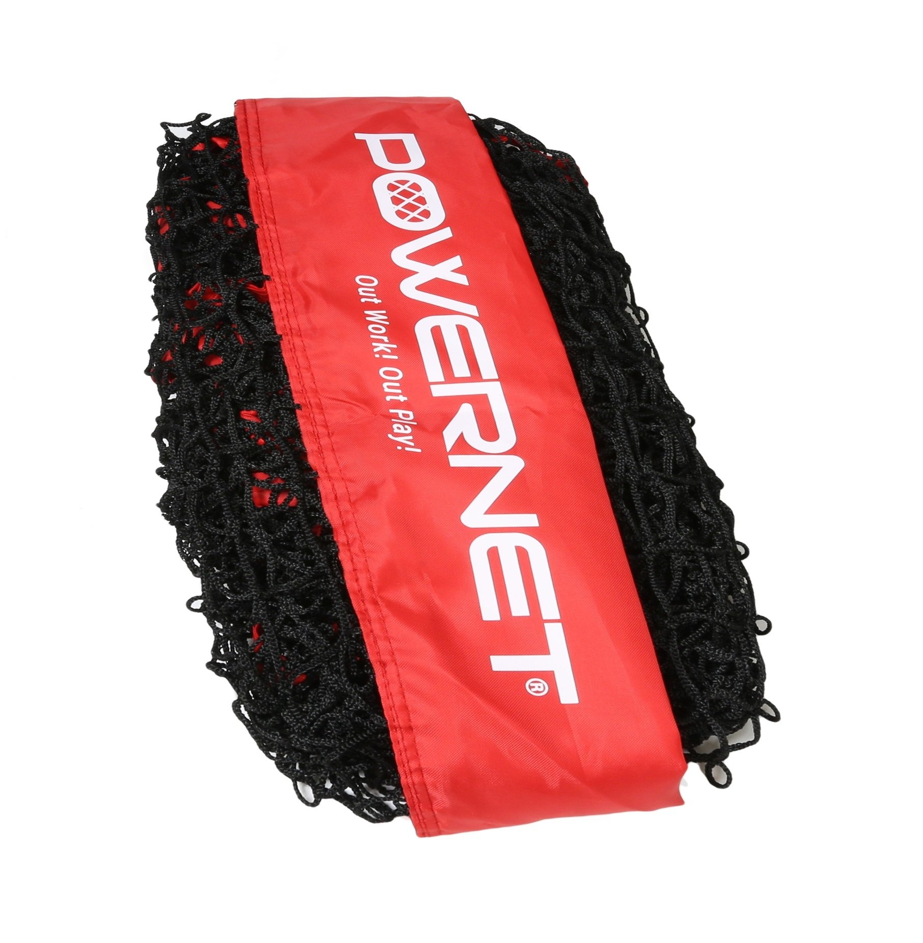 PowerNet Team Color Nets Baseball and Softball 7x7 Bow Style (NET ONLY) Replacement | Red | Heavy Duty Knotless | Durable PU Coated Polyester | Double Stitched Seams for Extra Strength (RED) by PowerNet