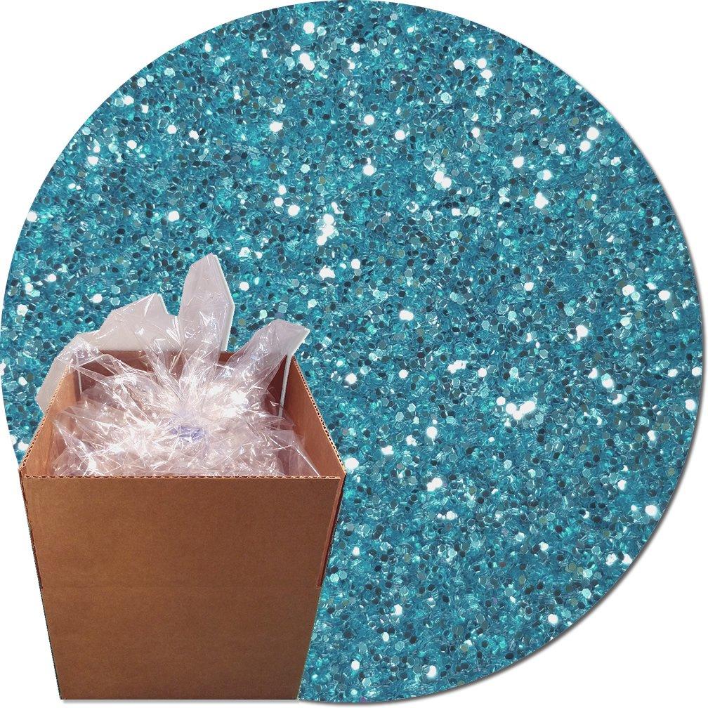 Glitter My World! Craft Glitter: 25lb Box: Blue Dazzle