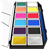 Artiparty Face & Body Paint Kit – Professional Palette – Non-Toxic & Hypoallergenic – Easy to Apply & Remove – Plastic Box for Ease of Storage&Carrying – Ideal as Adults & Kids Face Painting Set