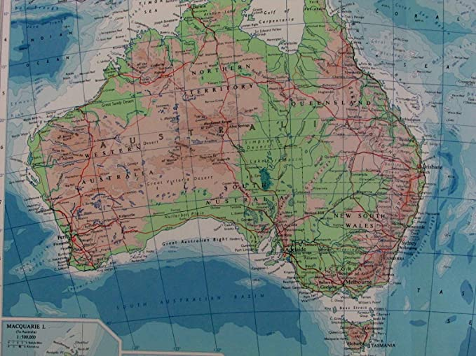 Amazon Com Australasia Australia 1959 Bathymetric Pacific