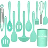 Kitchen Utensil Set - 12 Cooking Utensils Set- Colorful Silicone Kitchen Utensils - Nonstick Cookware with Spatula Set…