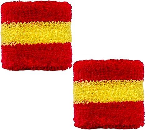 Brubaker – Muñequera españa Rojo Amarillo Rojo: Amazon.es ...