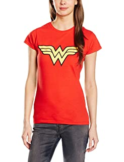 Official Wonder Woman Logo Womens T-Shirt