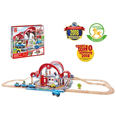 Hape Grand City Station Railway Playset, Multicolor: Toys & Games