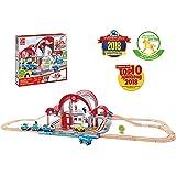 Hape Grand City Station Railway Playset, Multicolor (E3725)