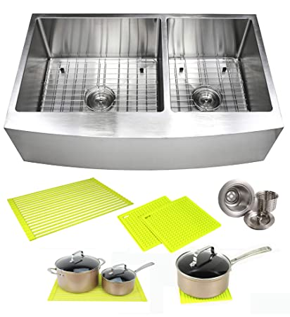 36 Inch Farmhouse Apron Front Stainless Steel Kitchen Sink Package