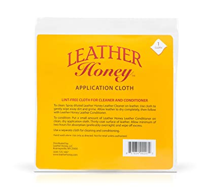 Leather Honey Leather Conditioner Lint-Free Application Cloth: Microfiber Cloth