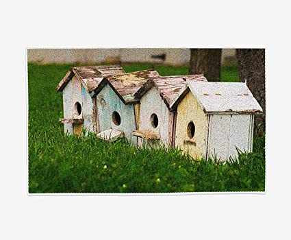Amazon.com: Intheend White Small House on The Grass, Funny ...