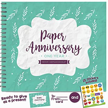 1st anniversary gifts for couples by year first year booklet with matching card for wood