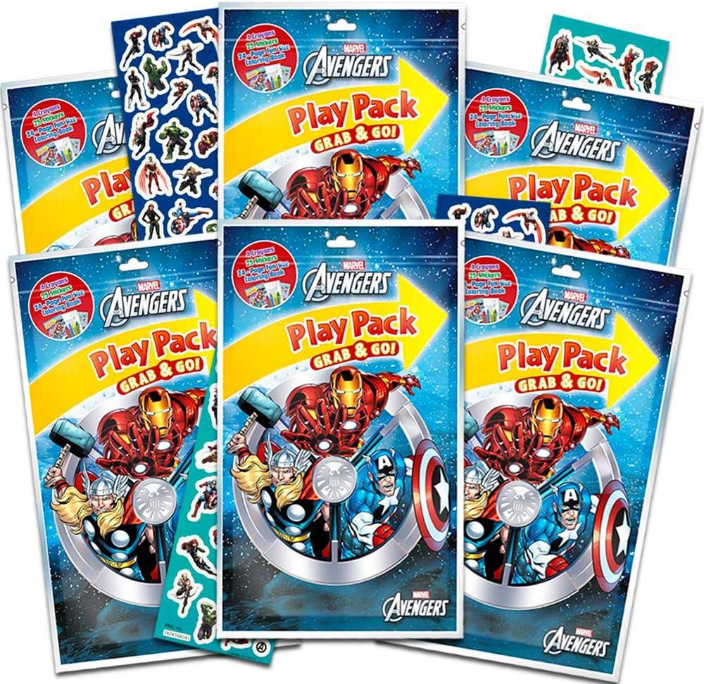 Marvel Avengers Party Favors Pack ~ Paquete de 6 Paquetes de Juego ...