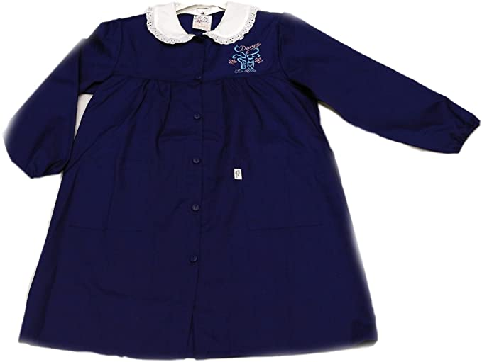 Tutti a Scuola - Bata de Colegio 27-430 para niña, Color Liso, Escuela Primaria, con Bordados, puños elásticos ES 158cm: Amazon.es: Ropa y accesorios