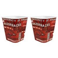 NCAA 3 Liter Reusable Plastic Snack Bucket 2 Pack