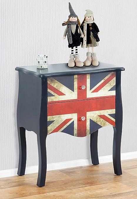Cómoda Marne auxiliar mesa de luz, 70 x 60 x 36 cm, Union Jack: Amazon.es: Juguetes y juegos