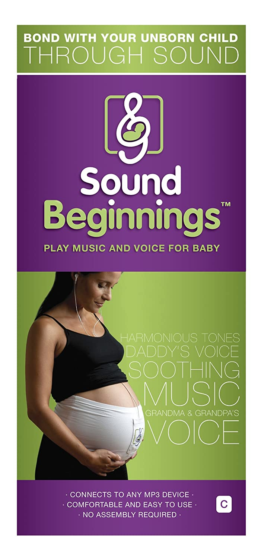 Sound Beginnings Audio Monitor, White, Medium Size C