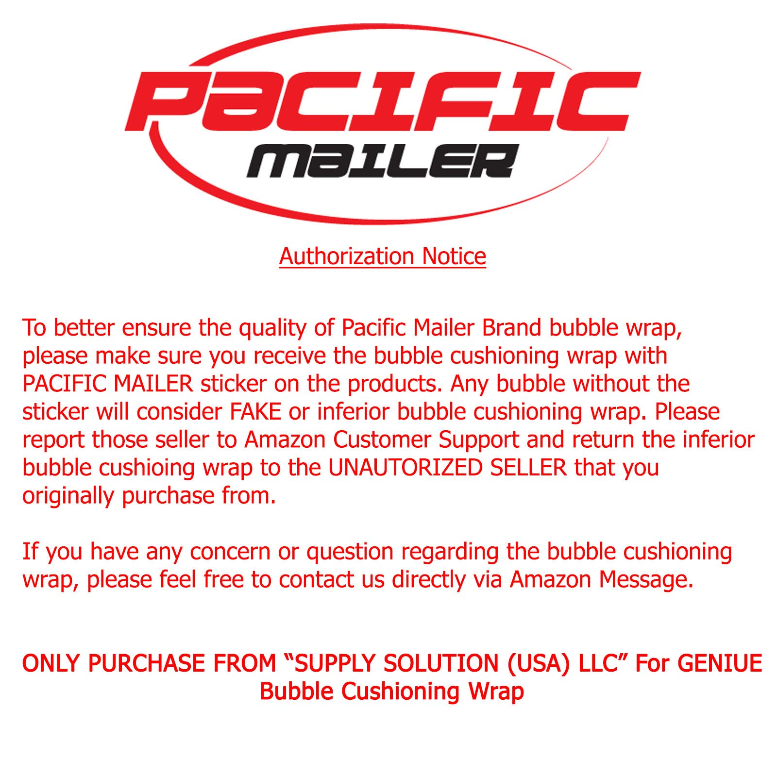 PacificMailer Bubble Cushioning Wrap Roll 12'' x 250' x 1/2'' Large, Perforated Every 12'' for Packaging, Shipping, Mailing by PacificMailer (Image #3)
