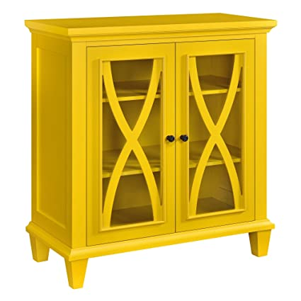 Charmant Ameriwood Home Altra Ellington Double Door Accent Cabinet, Yellow