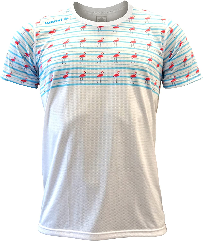 Luanvi Edición Limitada Camiseta técnica flamencos, Hombre, Blanco, 2XL (60-75cm): Amazon.es: Ropa y accesorios