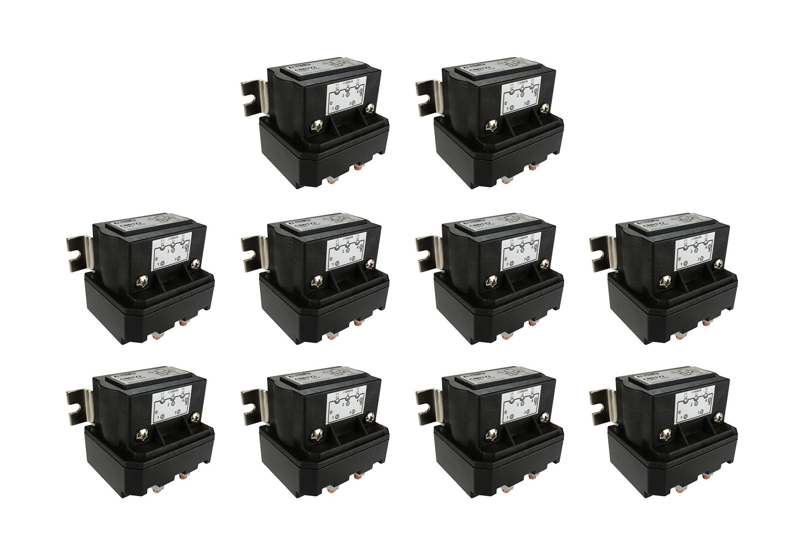 Temco 10 LOT 250 Amps DC Winch Motor Reversing Solenoid Relay Switch 12 Volt Contactor 5 Year Warranty